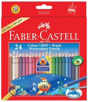 Price comparison product image Faber-castell Highly Soluble Triangular Water Colour Pencils (Set of 24)