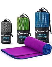 Fit-Flip Mikrofaser Handtuch Set – in Allen Größen / 18 Farben – Ultra leicht, kompakt, schnelltrocknend – Microfaser Handtücher – das perfekte Reisehandtuch, Strandhandtuch und Sporthandtuch