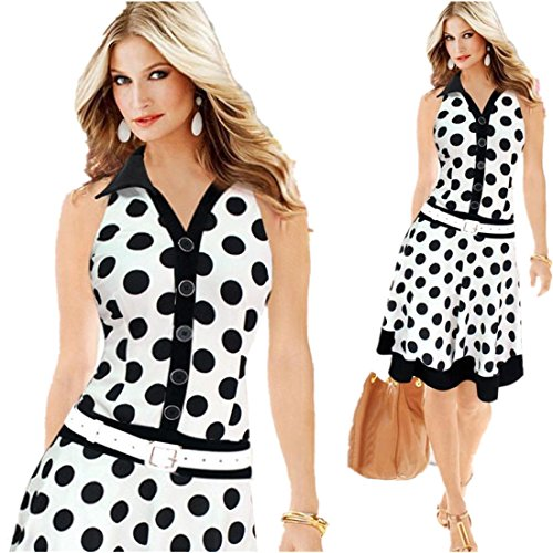 DDLBiz Fashion Sleeveless One piece Dresses