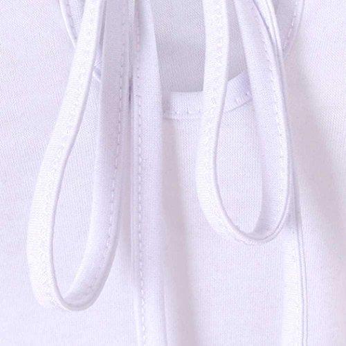 shirt Top Estate Pizzo T Camicetta Casuale Donna Hollow New Top puro Sexy Abbigliamento Chic Girocollo Dressings Elegante Bianco Adeshop Vest corta Manica Slim Stretch Fashion Colore wHaxEE