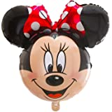 "Street Treats 34"" Minnie Mouse Shaped Foil Balloon with Red Bow"
