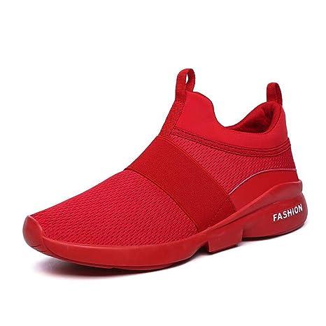 Hy Zapatos de Hombre Mesh Spring/Fall Comfort Zapatos atléticos/Mocasines y Slip-