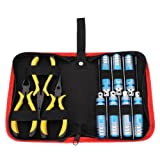 Toolcool 10 in 1 Repairing Tools Kit Box Set Hex Key Spanner Box Slot Screwdriver Diagonal Needle-nose Pliers Ball Link Pliers For RC Model Car