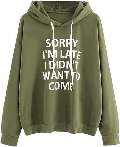 Fudule Women Sweatshirts,Womens Long Sleeve Pullover Hoodie Sweatshirt with Pocket Printed Sweater Tunic Tops Blouses