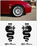 Alfa Romeo snake Biscione decal side decal set 2 pcs. L+R 15cm (white)