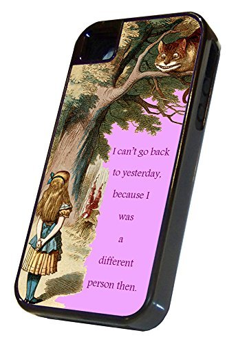 Alice in Wonderland iPhone 5 Tough Case Black, The Different Person, 2 Piece iPhone 5s Tough Cover Black, by Sublifascination 11, DOES NOT FIT THE IPHONE 5C (Iphone 5c Cases That Have Quotes)