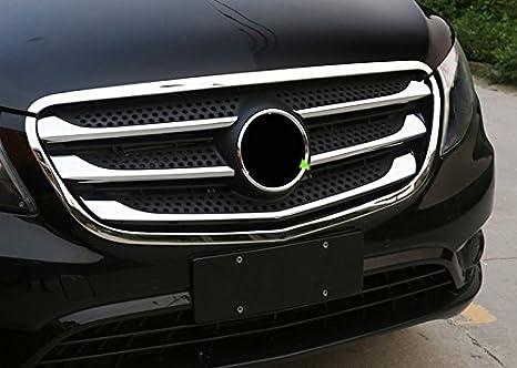 ABS cromo delantero inferior rejilla Grill molduras de estilo 2pcs para Vito W447 2014-2018 coche accesorios