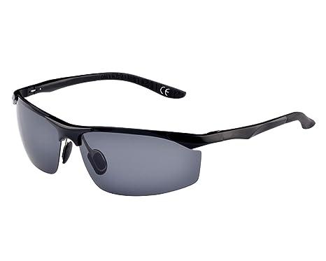 BVAGSS Herren Retro Aviator Stil Polarisierte Sonnenbrille 100% UV400 Schutz (Black Frame With Gray Lens) 4f2Vt6jmrE