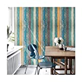 Decorative Wood Panel Pattern Contact Paper Self Adhesive Shelf Liner Peel and Stick Wallpaper for Covering Kitchen Cabinet Countertop Shelves Craft Projects 17.7x78.7 Inches