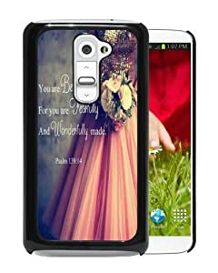 Popular Design LG G2 Case Of Bible Verses Christian Quotes Black Recommended Picture LG G2 Phone Case