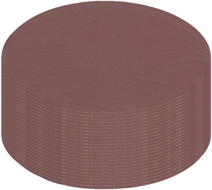 25Pcs 3-inch hook and loop sanding disc 2000 Grains Flocking Sandpaper for random orbit sander Brown