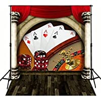 5x7ft Poker Dice casino theme backdrops Flannelette cloth Computer printed children photography studio background DD-MR-1893