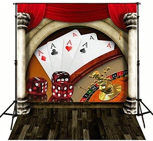 5x7ft Poker Dice casino theme backdrops Flannelette cloth Computer printed children photography studio background (Poker Themes)
