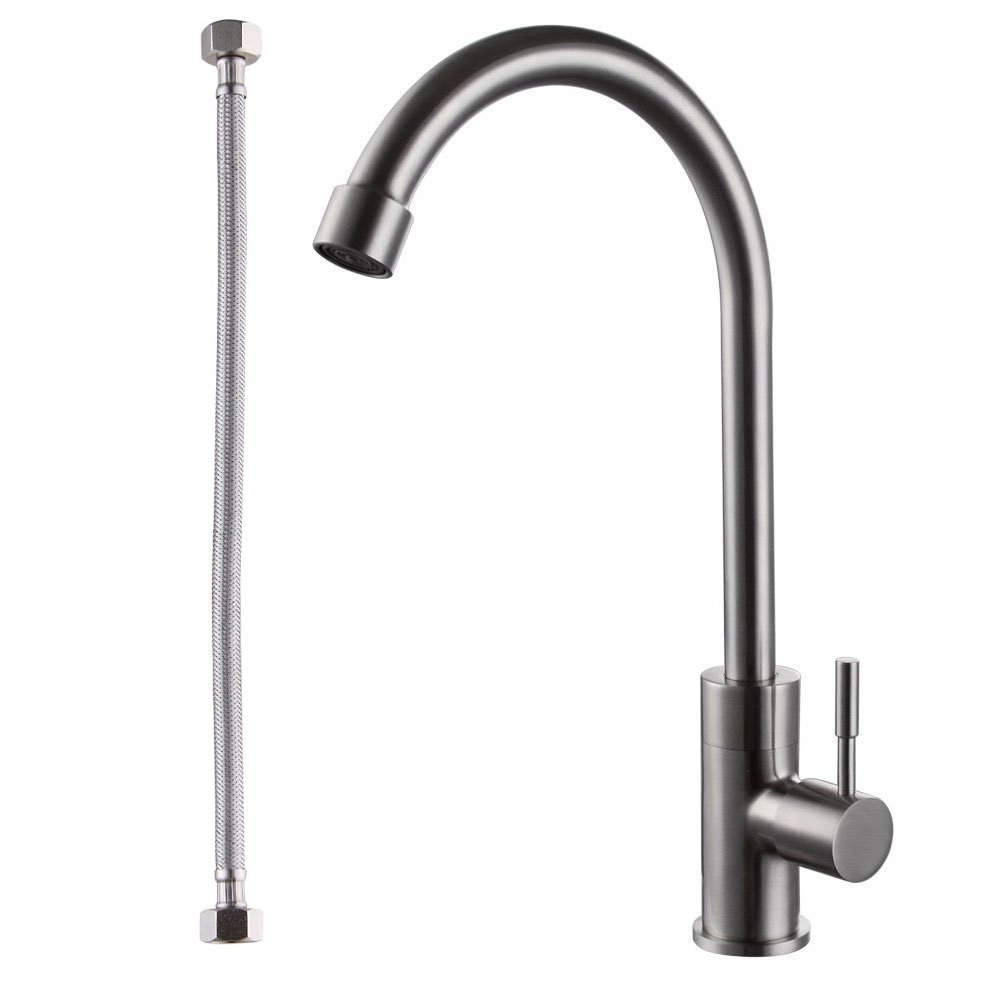 KES K8050A SUS304 Stainless Steel Cold Tap Single Lever Kitchen ...