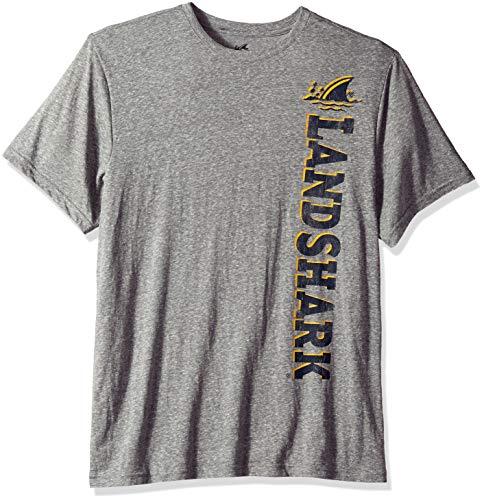 Margaritaville Men's Short Sleeve Tri Blend Heathered LandShark Graphic T-Shirt, Castle Rock, Large
