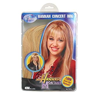Amazon Com Hannah Montana Concert Wig Clothing