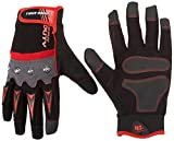 True Grip Heavy Duty Work Gloves with Touch Screen Capability, Large