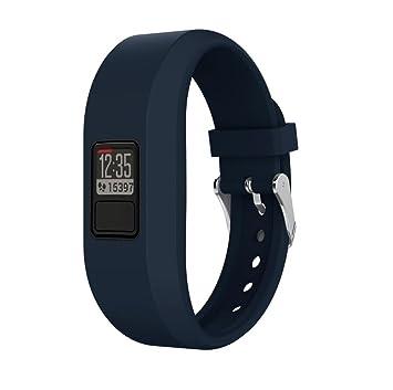 Reloj Correa para Garmin Vivofit 3, vneirw hombre mujer durabilidad colorido silicona ajustable Watch Reemplazo