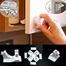 Baby Safe Magnetic Cabinet Drawer Locks,4locks 1key & Safety Plug Covers, 24count