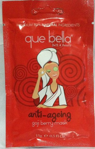 Que Bella Anti-Ageing Goji Berry Mask .5 oz