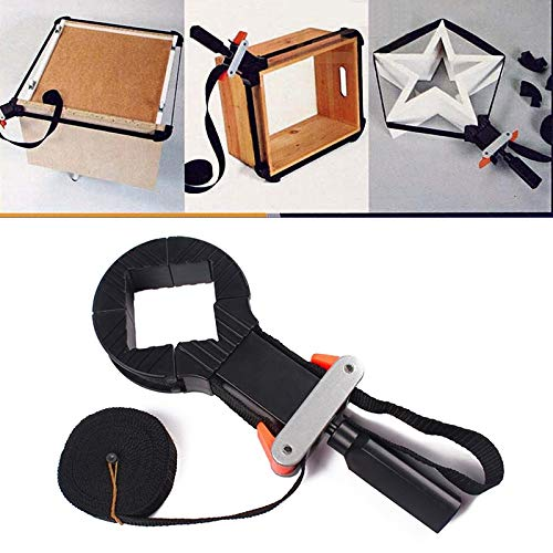 Ochoos Rapid Corner Clamp Woodworking Band Strap Holder 4 Jaws for Picture Frame Drawer