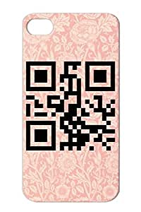 QR Cities Countries States Qrcode Code Born In Alaska 1500 Transparent Code Dirtproof Case Cover For Iphone 4 Black