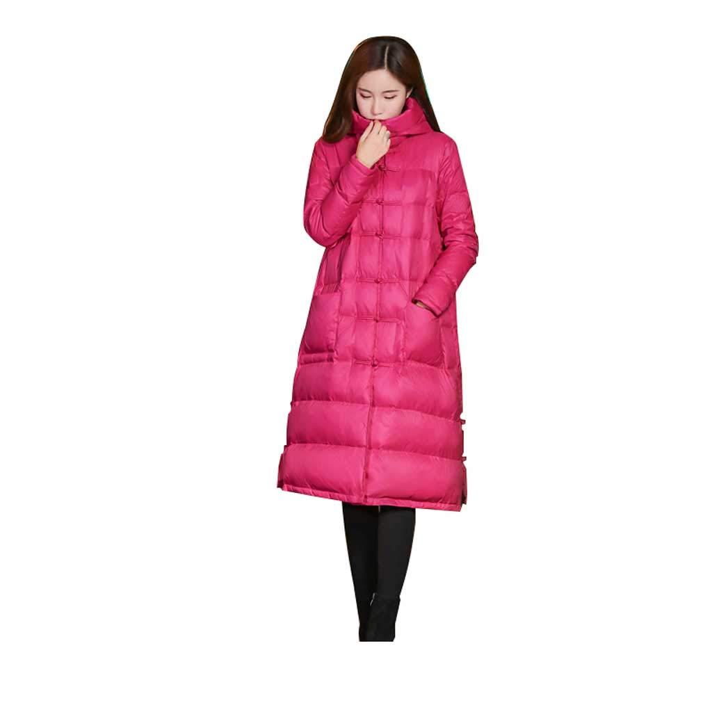 Rose Rouge L Version coréenne du vêteHommest d'hiver pour Les Les dames de la Veste lÂche Longue et grand en Vrac