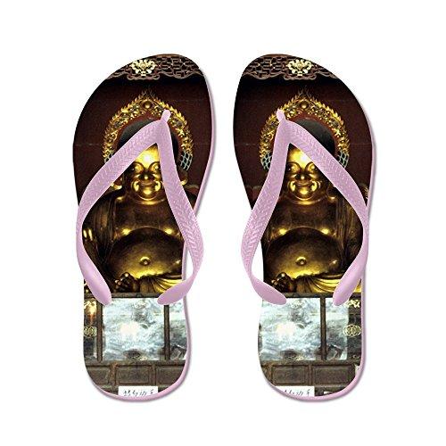 Cafepress Gouden Boeddha - Flip Flops, Grappige String Sandalen, Strand Sandalen Roze
