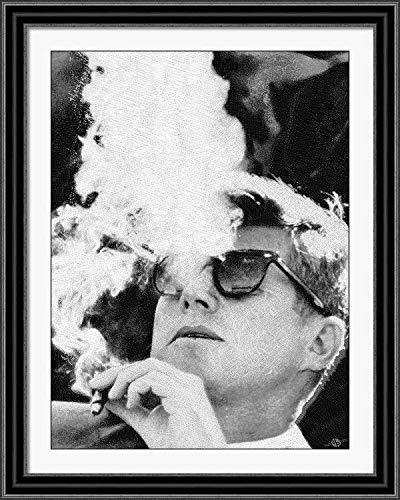 Amazon.com: JFK - Gafas de sol, color blanco y negro (7.9 x ...