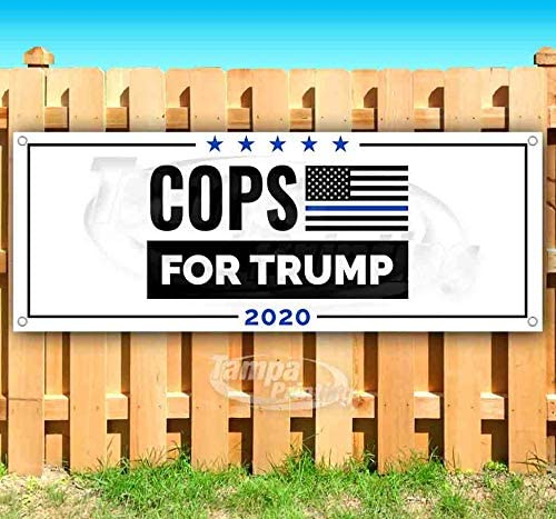 Trump Cops 2020 13 oz Heavy Duty Vinyl Banner Sign with Metal Grommets Advertising Store Many Sizes Available Flag, New