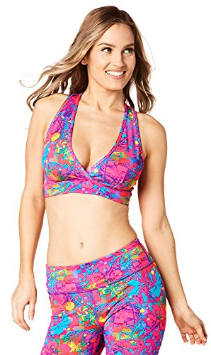 Zumba Fitness Queen of The Jungle Reversible V Bra, Top Donna Z1T01232