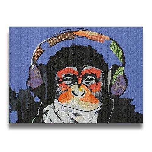 Phantom Of The Opera Monkey Music Box (Janvonne 1620 Inch Modern Gorilla Monkey Music Room Decoration Borderless Frame Pictures Living Room Decoration)