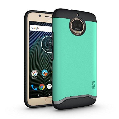 TUDIA Moto G5S Plus Case, Slim-Fit HEAVY DUTY [MERGE] EXTREME Protection/Rugged but Slim Dual Layer Case for Motorola Moto G5S Plus (Mint)