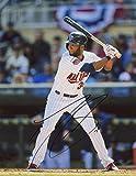 Autographed Danny Santana Photo - At Bat 8x10 W coa - Autographed MLB Photos
