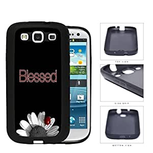 Blessed Lady Bug On Sunflower Rubber Silicone TPU Cell Phone Case Samsung Galaxy S3 SIII I9300