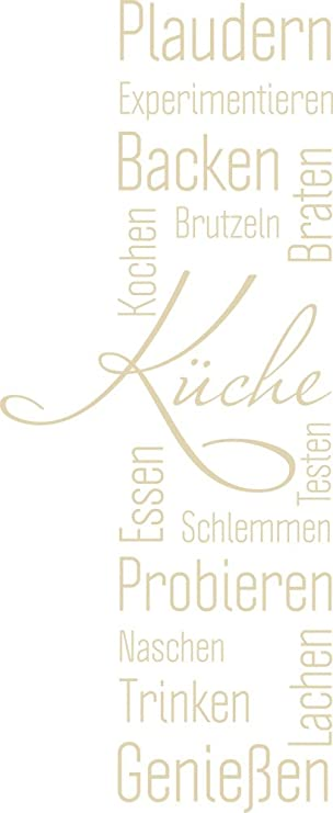 Graz Design® Wandtattoo Küche Plaudern Backen Genießen -Banner ...