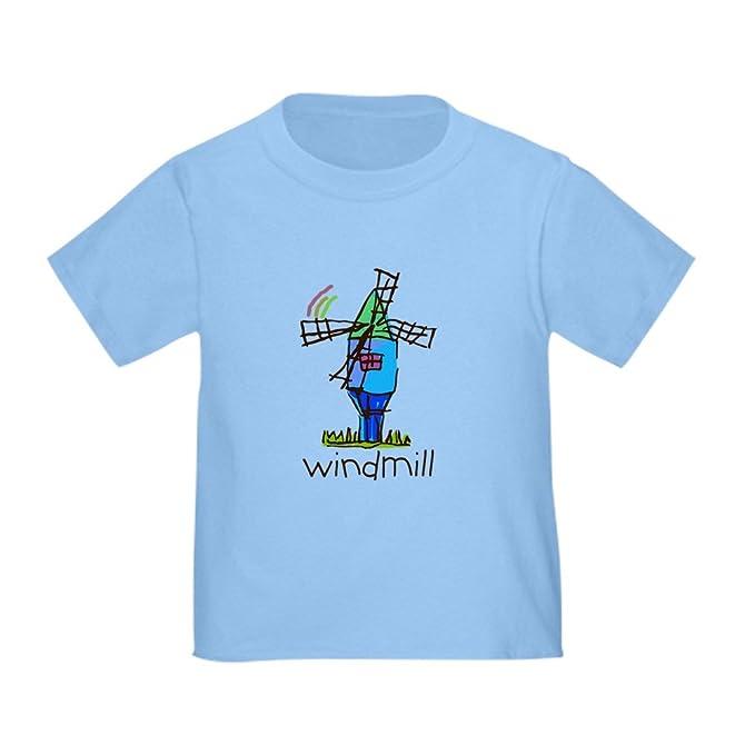 1a55de8cc CafePress Kid Art Windmill Cute Toddler T-Shirt, 100% Cotton Baby Blue