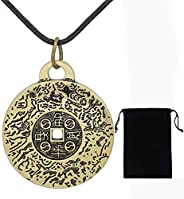 2021 New Feng Shui Money Amulet Necklace, Talisman Pendant, Attracts Blessings Health Luck & Protection, V