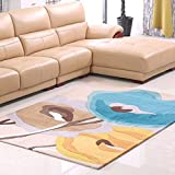 HOMEE European Living Room Coffee Table Carpet/Bedroom Bedside Personality Carpet,E,120X170Cm(47X67Inch)