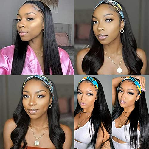 Mortilo Glueless Lace Deep Wave Wigs, Density Human Hair Wigs for Black Women Glueless Water Wave Wet and Wavy Human Hair Wigs 26 Inch (O)