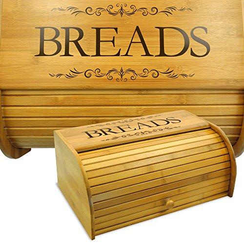 130 Lb Bin - Cookbook People Classic Filigree Wood Bread Bin