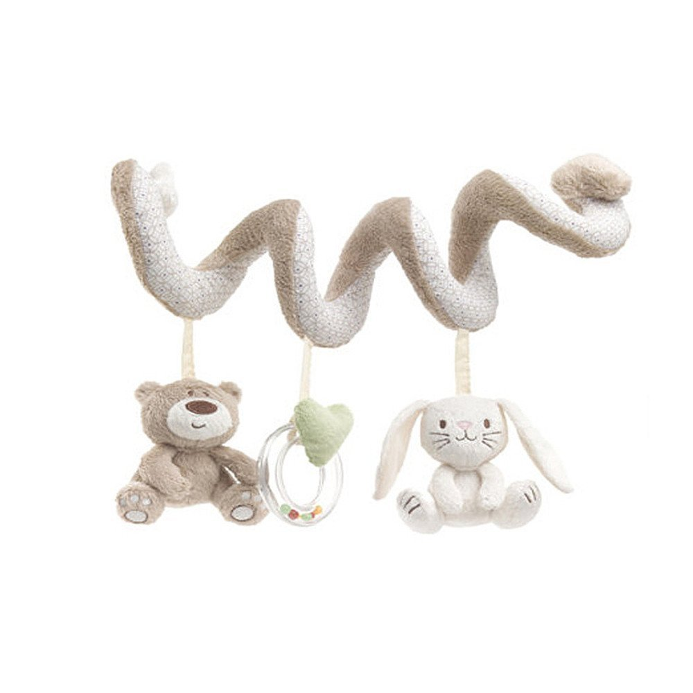 VineCrown Baby Crib Toy Funny Plush Animal Activity Spiral Prams Car Seat Soft Toy Pushchairs Mobile Cot Stroller Toys Gift Bed Hanging Cuddly Doll Rabbit