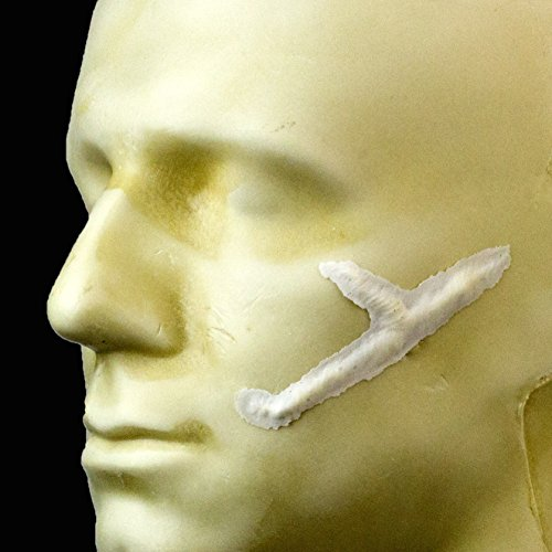 Rubber Wear Foam Latex Prosthetic - Y Scar FRW-062 - Makeup and Theater -