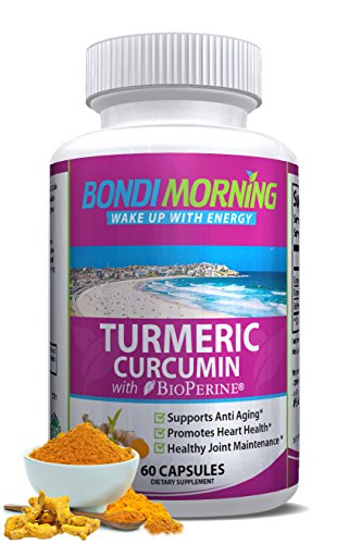 Turmeric Curcumin with Bioperine. High Potency Anti-Inflammatory for Maximum Pain Relief and Joint Support. Non-GMO Nutritional Supplement. 1200mg 95% Standardized Curcuminoid Formula. 60 Capsules