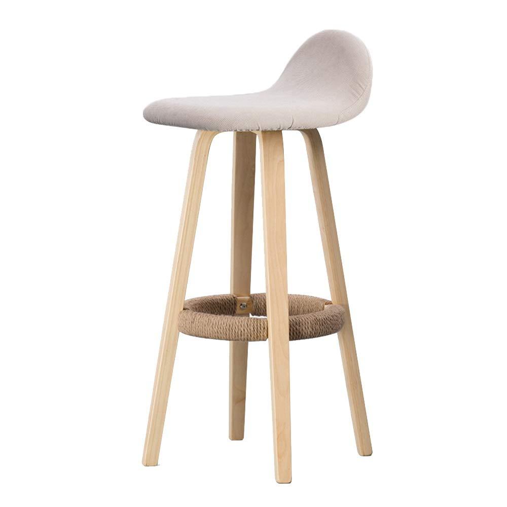 4 Bar Stool, Back Bar Chair, Home Bar Stool, Modern Minimalist Bar Stool, Solid Wood Stool (color   06)