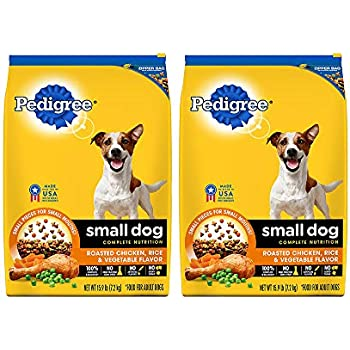 Amazon Com Pedigree Small Breed Adult Dry Dog Food Chicken 15 9
