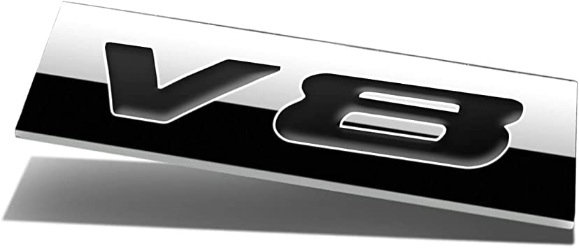 Auto Car Parts Trim Gift Chrome Metal Decal Sticker 3D V8 V 8 Logo Emblem Badge