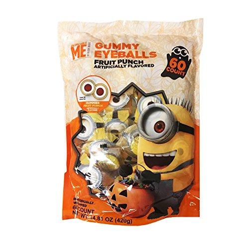 Despicable Me Halloween Special Edition Eyeballs Gummy Candy Fruit Punch 60count/14.81oz