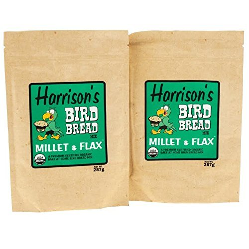 Harrison's Organic Bird Bread Parrot Treat Millet & Flax Mix (9.06oz/257g) PACK of 2 by Harrison's