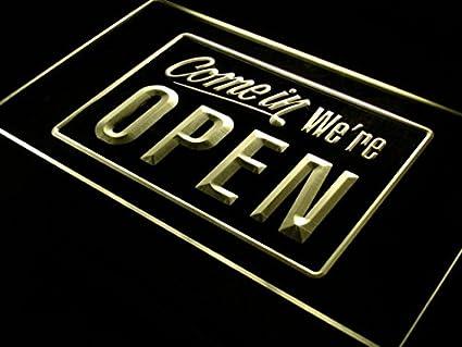 ADV PRO i001-b We're OPEN Shop cafe Bar Display Neon Light Sign ADVPRO 5055685614481